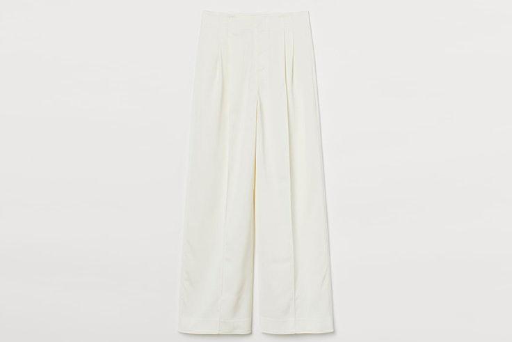 Pantalones blancos largos de H&M