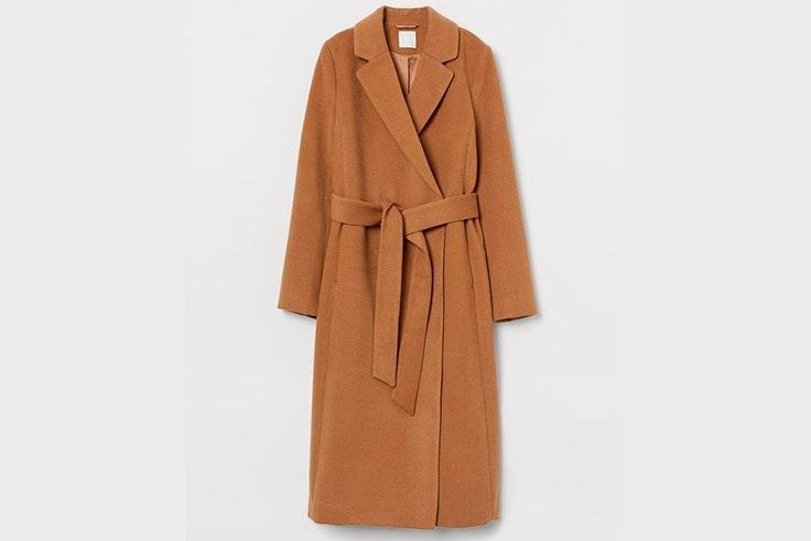 Abrigo largo en color beige de H&M