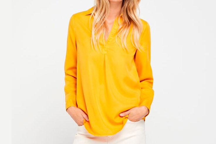 Camisa amarilla de Cortefiel