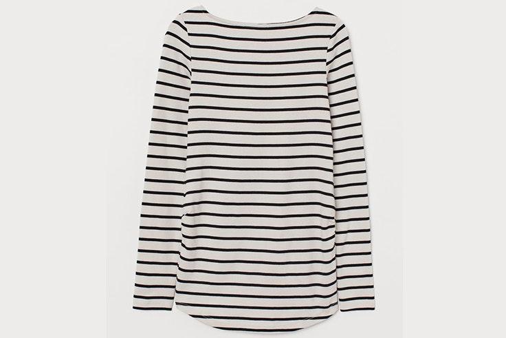 Camiseta de rayas holgada de H&M estilo natalia coll
