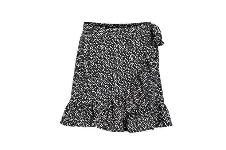 Falda estampada en tonos blanco y negro de New Yorker