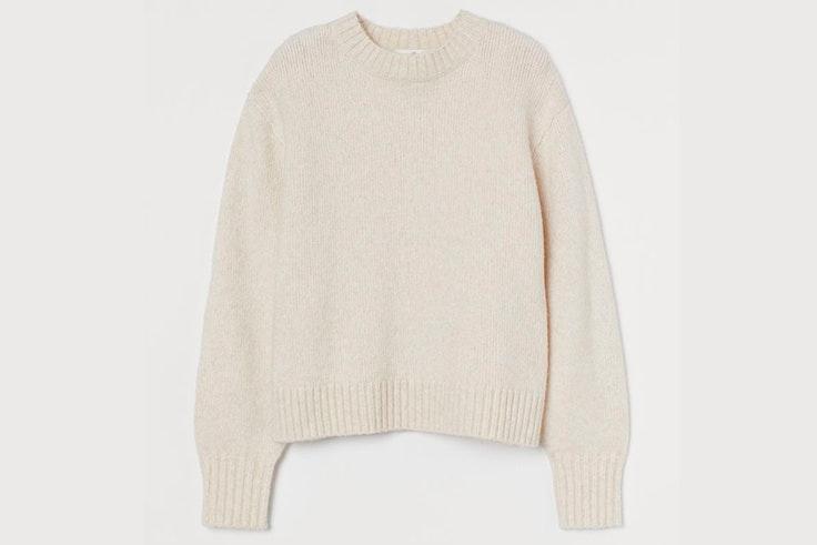Jersey en punto suave beige claro de H&M prendas de punto