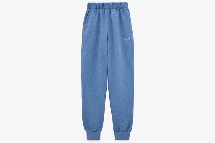 Pantalones en color azul de Zara