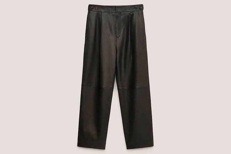 Pantalones negros rectos de Massimo Dutti