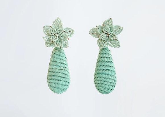Pendientes verdes Zara