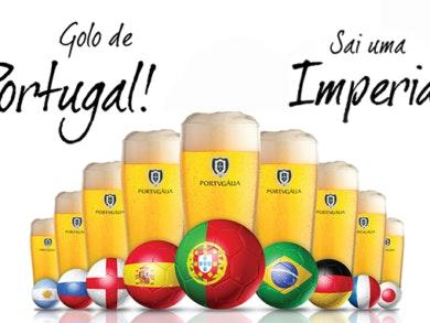 Na Portugália um golo de Portugal vale uma imperial