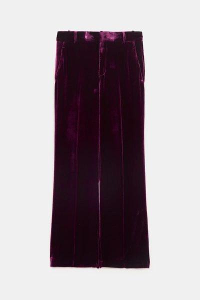 Calças fato roxo, Zara, 49,95€