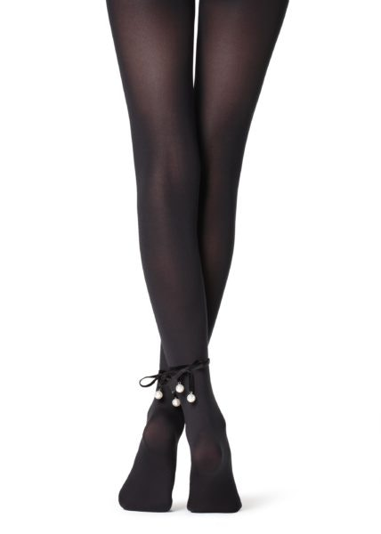 Collants com fita de veludo, Calzedonia, 12,95€