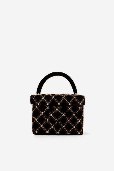 Mala veludo, Zara, 35,99€