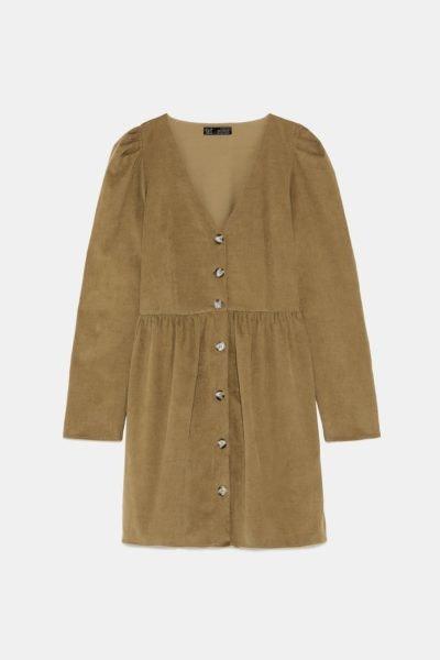 Vestido caqui, Zara, 25,95€