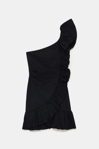 Vestido com folho, Zara, 39,95€