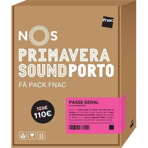 Fã Pack Fnac para NOS Primavera Sound 2018, Passe Geral, 110€