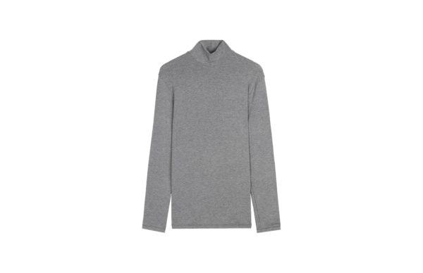 Camisola de manga comprida em modal caxemira gola alta, 39,90€