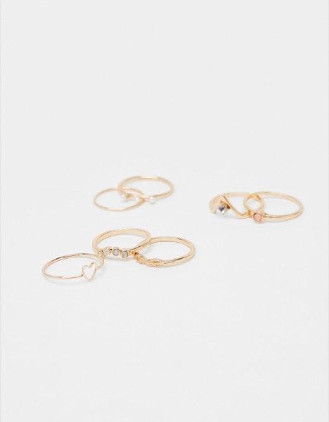 Conjunto anéis Bershka, 6,99€