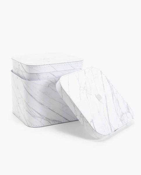 Caixas Mármore, Zara Home, de 9,99 a 12,99€