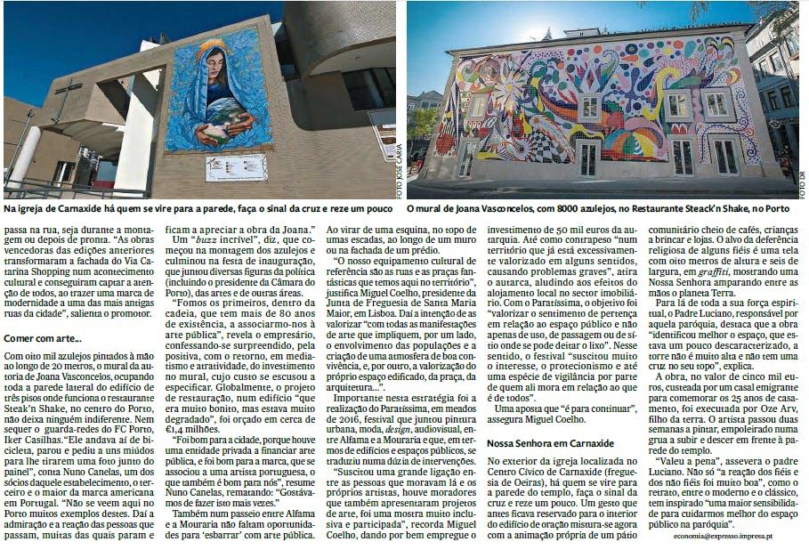 Publicado no dia 25/03/2017 em jornal Expresso