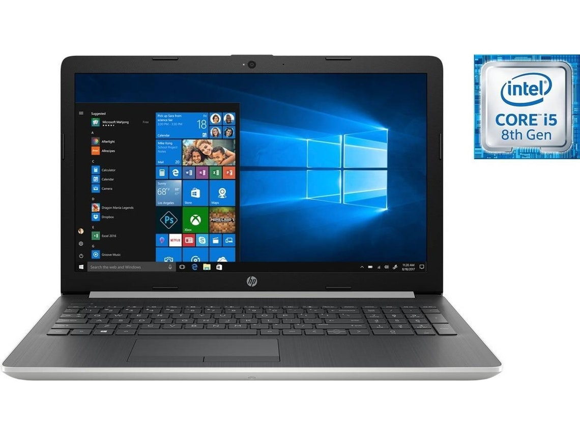 Portátil 15,6'' HP Notebook 15-da0027np, 649,99€, na Worten