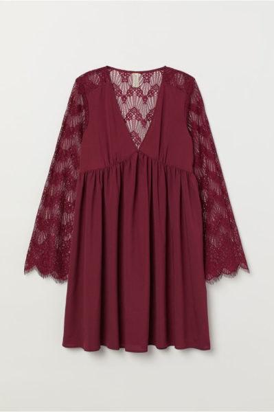 Vestido com renda, H&M, 29,99€