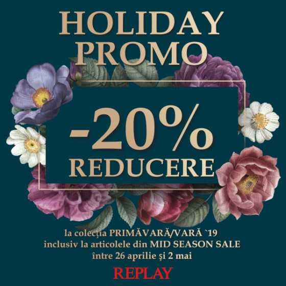 REPLAY HOLIDAY PROMO  600x600px