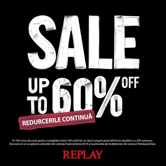 REPLAY SALE UP TO -60 600x600px