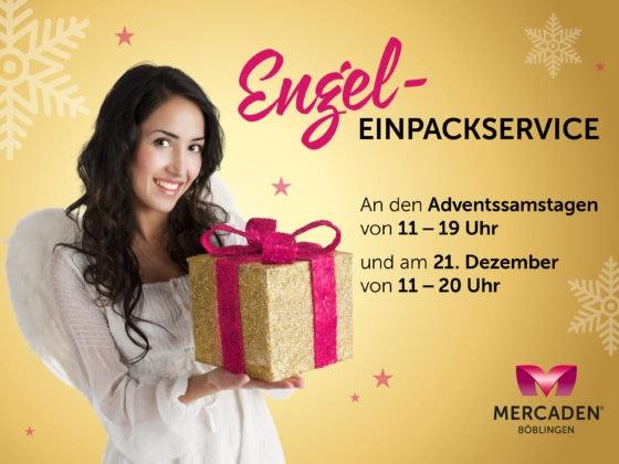 Weihnachten Einpackservice-Event