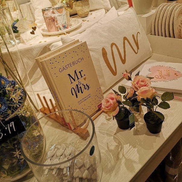 Hochzeitsdeko von depot in den MERCADEN Böblingen