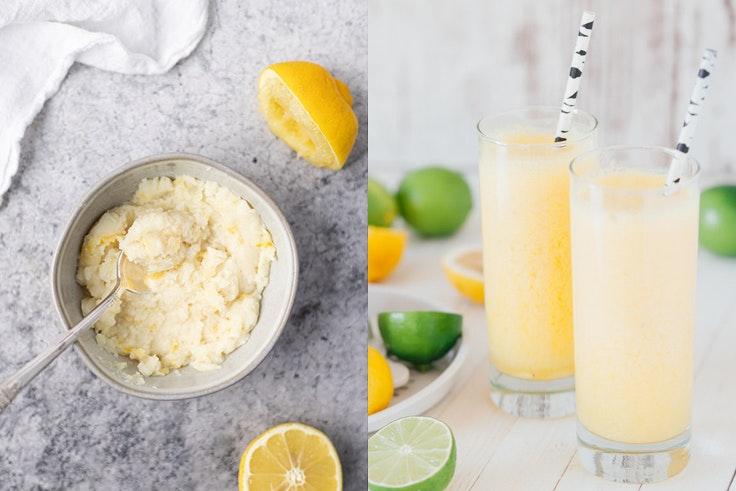 ideas de sorbetes limón y cava