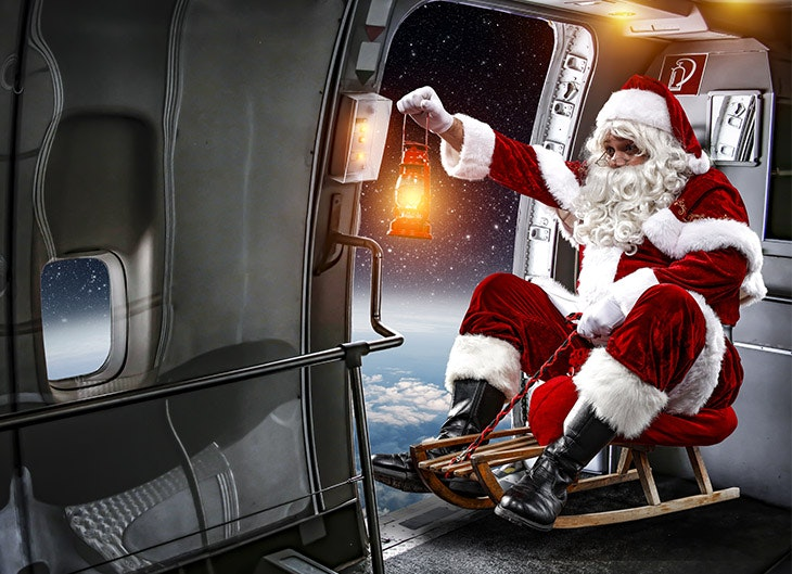 Babbo Natale atterra a Biella!