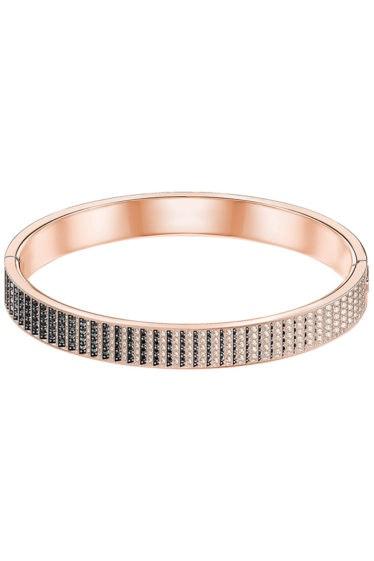 Swarovski-Luxury-Bangle-Black-Rose-gold-plating-5356799