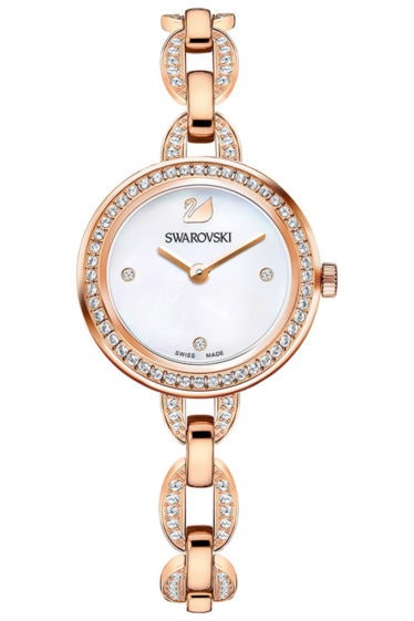 Swarovski-Aila-Mini-Watch-Metal-bracelet-Rose-gold-tone-5253329