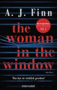 Bestseller-Tipp zum Welttag des Buches: The Woman in the Window - A. J. Finn von Blanvalet