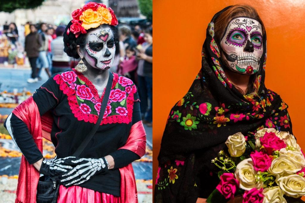 Mexikanische Totenmaske – Tipps vom ALEXA Berlin für Halloween-Kostüme