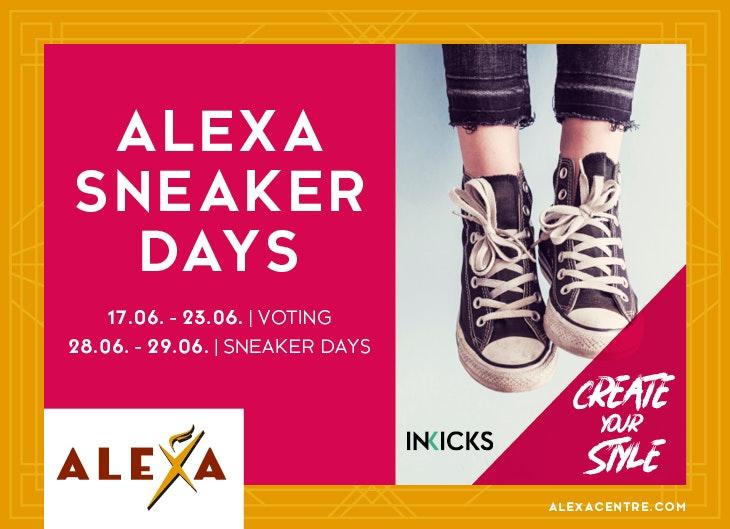 Voting für den ALEXA Sneaker - Das Gewinnspiel vom ALEXA Berlin