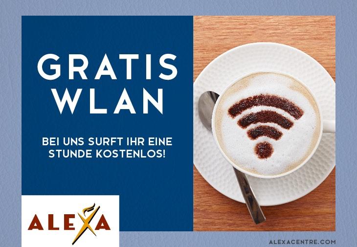 kostenloses WLAN im ALEXA Berlin