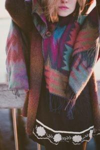 warmer Poncho für kalte Wintertage