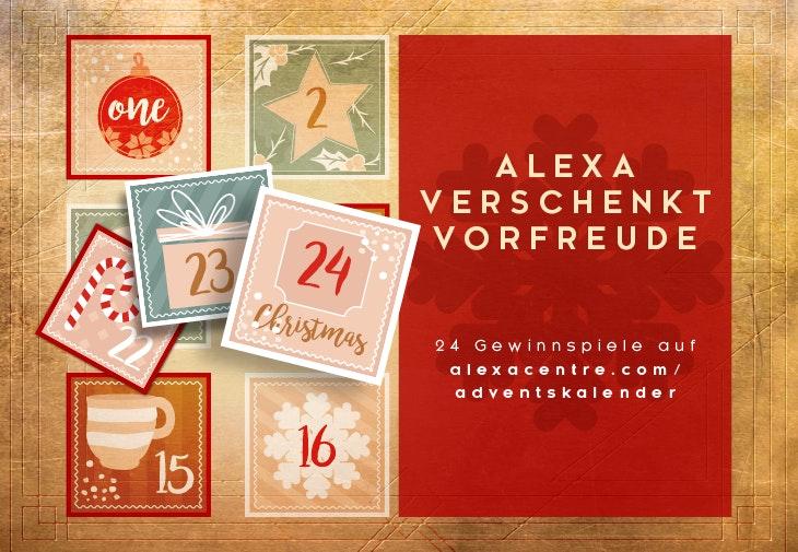 Gewinne beim Adventskalender vom ALEXA Berlin.