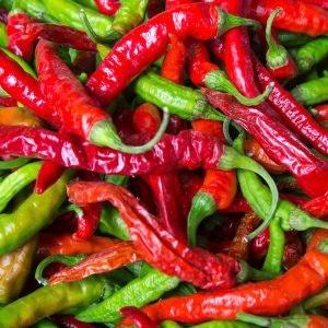 Chilis für vegane Rezepte im ALEXA Berlin