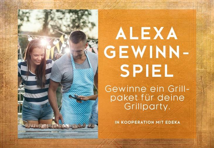 Gewinne tolle Grillboxen beim ALEXA Gewinnspiel.
